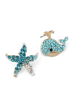 Dolphin Starfish Earring Set - Accessory - Retro, Indie and Unique Fashion