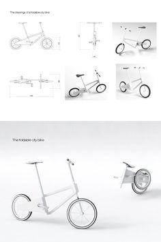 Foldable City Bike for Isuda by Asta Sad