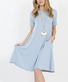 Look at this #zulilyfind! Ash Blue Pocket Tunic Dress - Women #zulilyfinds