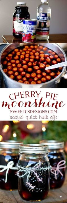 awesome last minute gift idea for a group- cherry pie moonshine! Easy and inexpensive! @charlie1986