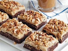 Caramel-Pecan Brownies | Sweet and irrisistable, these Caramel-Pecan Brownies are absolutely drool-worthy. Serve them at your next party and they'll become an instant favorite.