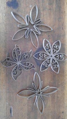 Flores de rollitos de papel de baño