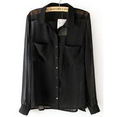 2.6 black sheer shirt