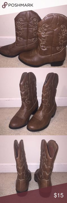 Cowgirl boots Worn once. Fits size 5-6 Shoes Ankle Boots & Booties