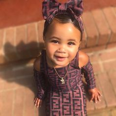 Official Skyla A'Lori 👑 ( Cute Mixed Babies, Cute Black Babies, Black Baby Girls, Beautiful Black Babies, Cute Babies, Black Kids, Cute Kids Fashion, Baby Girl Fashion, Fashion Children