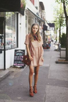 Class Is Internal: Peach + Zara Red Lace Up Sandals