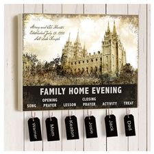 Family Home Evening Chart On Canvas I Like The Temple As The Center Maybe