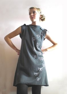Origami Butterfly black washed silk Dress by nivule on Etsy, €89.00