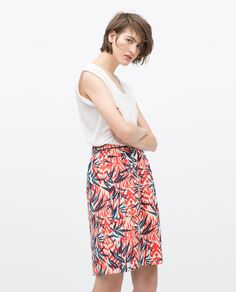 PRINTED SKIRT - View all - Skirts - WOMAN | ZARA United Kingdom