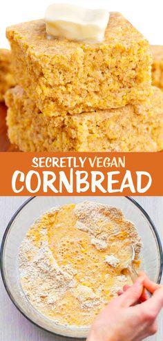 Healthy Cornbread, Easy Cornbread Recipe, Homemade Cornbread, Sweet Cornbread, Vegan Donut Recipe, Donut Recipes, Copycat Recipes, Bread Recipes, Fun Easy Recipes
