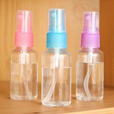 1 Pcs Mini Purfum Bottle Women Plastic Transparent Small Empty Spray Bottle For Make Up And Skin Care Refillable Bottle #Affiliate