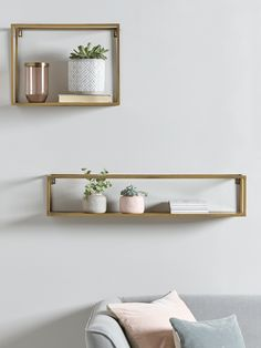 NEW Burnished Brass Shelves