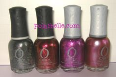 4 Orly #NailPolish - click for swatches.  #giveaway coming