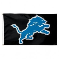 NFL Detroit Lions 3' x 5' Black Flag
