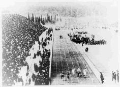 The final of the 100 metres at the 1896 Olympics