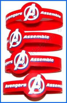 Avengers Party Supplies, Rubber Wristband Favours, Birthday Party Supplies, Canada