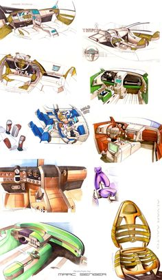 Sketches - Ink on Paper by Marc Senger, via Behance
