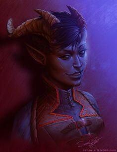 ArtStation - D&D character, Sarah Shaw
