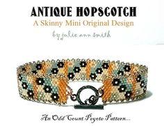 ANTIQUE HOPSCOTCH Skinny Mini Bracelet Pattern