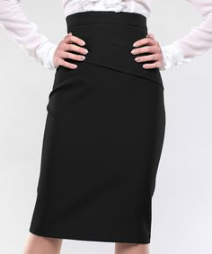 Look what I found on #zulily! Black Seam-Accent Pencil Skirt - Plus Too by Laura Bettini #zulilyfinds