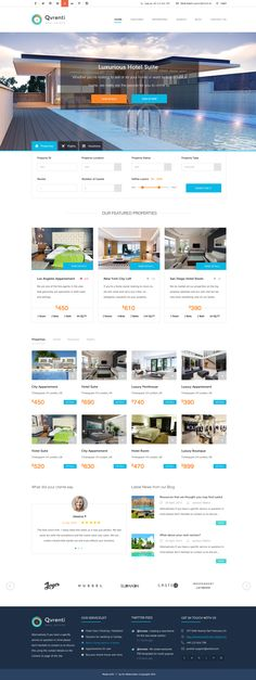 Qvrenti - WordPress Real Estate and Rental Responsive Theme