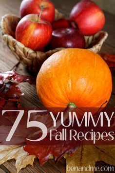 75 Yummy Fall Recipes -- main dishes, desserts, sides, slow cooker, and more! Whole 30 Recipes, Fall Recipes, Yummy Recipes, Holiday Recipes, Healthy Recipes, Cozy Meals, Autumn Activities, Family Activities, Fall Scents