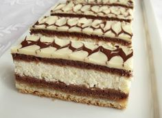 Citromhab: Túrós zserbó Hungarian Desserts, Hungarian Recipes, Cold Desserts, Delicious Desserts, Yummy Food, Ital Food, Cookie Recipes, Dessert Recipes, Tasty Chocolate Cake