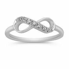 Diamond Infinity Ring. A love that never ends