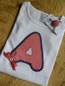 T shirt alphabet applique Applique Tutorial, Applique Patterns, Embroidery Applique, Baby Sewing Projects, Sewing For Kids, Sewing Crafts, Sewing Clothes, Diy Clothes, Amarillis