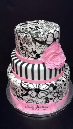 painted flowers cake.   This would be awesome for my 16th anniversary of my 29 th birthday this year!!!! Lol.  CB