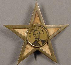 LINCOLN Star Button (1864)
