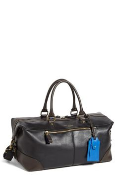 Ted Baker London 'Ottoman' Leather Holdall Bag available at #Nordstrom