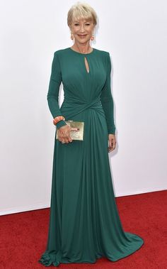 Best dressed - Helen Mirren in Elie Saab. I KNEW there was a reason I love Elie Saab! Helen Mirren is my style icon! Nice Dresses, Formal Dresses, Helen Mirren, Bridesmaid Dresses, Wedding Dresses, Quinceanera Dresses, Celebrity Dresses, Green Dress, Dress Red