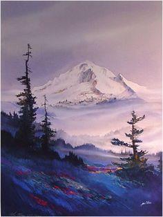 John Ebner -Visions of the Northwest, Mount Hood Above the Mist