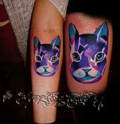 cat done by Igor Sz more tattoo's on my facebook : ---> www.facebook.com/Idzi.Sterling