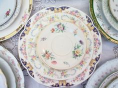 This shop sells mismatch wedding china for cheap! so pretty and vintage. perfect for a shabby chic wedding