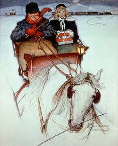 Norman Rockwell's, Homecoming, 1949.  Classic Americana Winter Wonder!