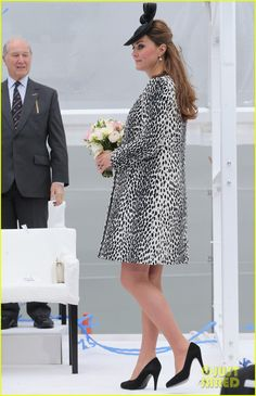 pregnant kate middleton baby bump at first ship christening 16