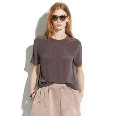 Silk Shirred Top - shirts & tops - Women's NEW ARRIVALS - Madewell