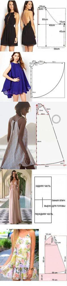 À faire en mettant un élastique juste sur le dos comme dans vidéo robe facile daretodiy
