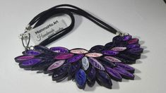Handmade necklace Pretty in Pink&Purple handmade by MammaMiaArt