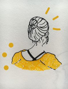 s0ftbee: doodled my lovely friend in math today ✎