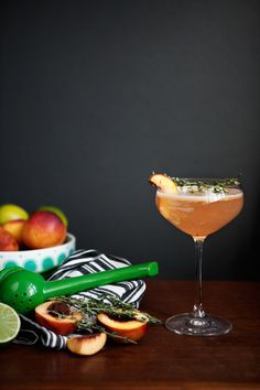 Thyme Nectarine Cocktail