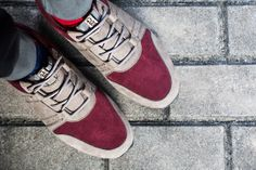 CLAE Mills Taupe/Oxblood Suede