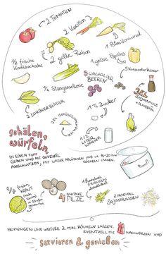 Rezept für Gemüsesuppe mit Sprossen & Shitake Pilzen