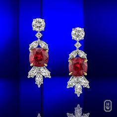 Harry Winston Rubies and diamonds meticulously set in symmetrical symphony and brilliance conjure the inarguable beauty of possibility on the redcarpet.