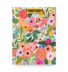 We all want the NEW Rifle Paper Padfolio. The brass clip makes it every special.Includes interior pocket, removable/refillable writing pad with perforated pages with shaded lines x Anna Bond, Color Notepad, Ideas 2017, Valentines Day Greetings, Writing Pens, Rifle Paper Co, Paper Tape, Hand Designs, E Commerce