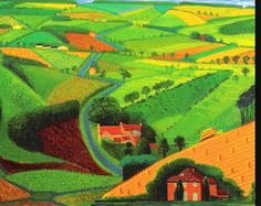 David Hockney- I appreciate his brighter than reality colors in his painting.