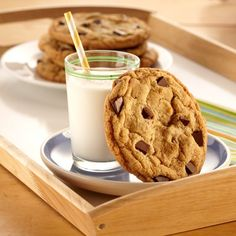Chewy Jumbo Chocolate Chip Cookies from Land O'Lakes