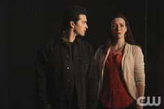 "The Vampire Diaries -- ""I'm Thinking of You All The While"" -- Image Number: VD622c_0168.jpg -- Pictured (L-R): Michael Malarkey as Enzo and Annie Wersching as Lily -- Photo: Annette Brown/The CW -- © 2015 The CW Network, LLC. All rights reserved."